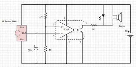 Усилитель сигналов ИК-пульта.  Нравится.  Индикатор ИК-излучения.