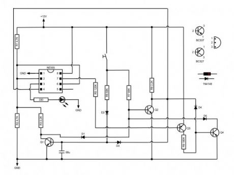 Momentary Switch with 555 circuit