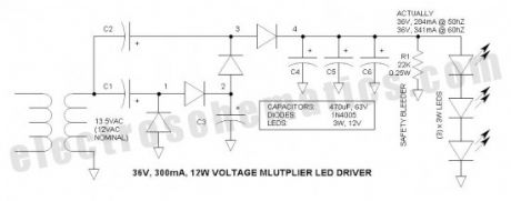 Voltage Multiplier LED Driver Circuit