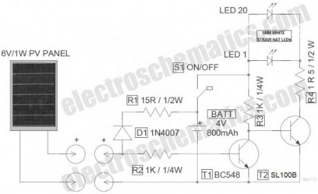 index 2 - led and light circuit - circuit diagram