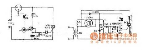 Combustible gas alarm circuit