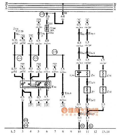 Audi A6 heated seats Circuit Diagram