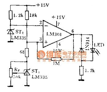 Air flow detection circuit diagram