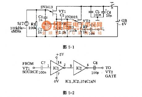 Multi-frequency signal generator circuit diagram