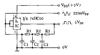 Square wave, sine wave generator circuit diagram