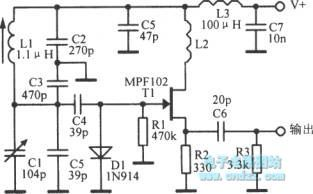 10 MHZ variable frequency oscillator