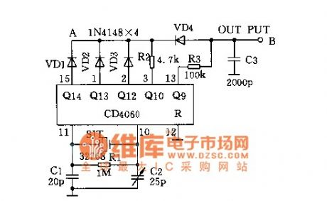 Cheap precision digital clock timing circuit