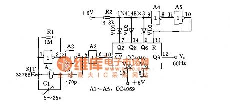Digital clock oscillator time base circuit