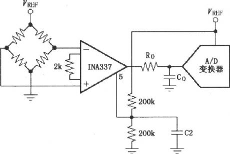 Composed of INA337 output reference potential to VREF / 2 circuit