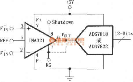 INA321/322 constituted by a direct drive capacitive input A / D converter