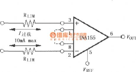 Input current protection circuit constituted by the INA155/156