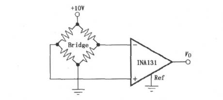 Constituted by INA131, the resistor bridge amplifier