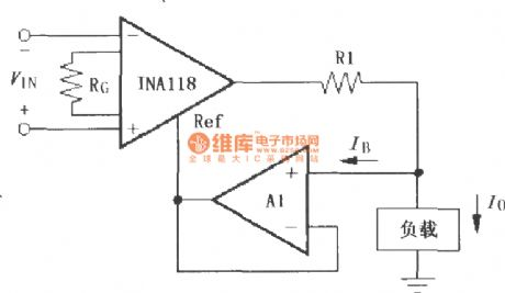 Constituted by the INA118 differential voltage - current converter