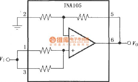 Gain 2 of precision amplifier circuit (INA105)