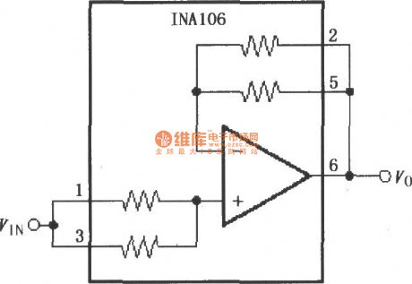Gain 11 of precision buffer circuit(INA106)