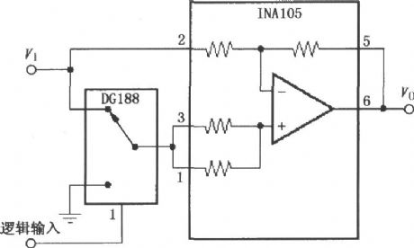 NC gain ± 1 amplifier (INA105)