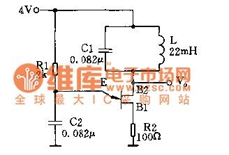 Single-junction transistor sine wave oscillator circuit diagram