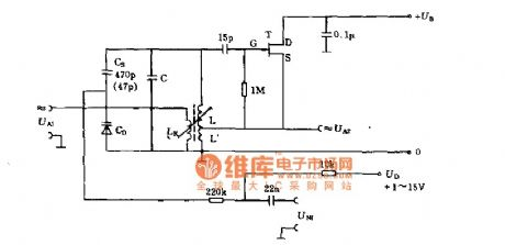 With 300 MHZ loose swing frequency modulation circuit