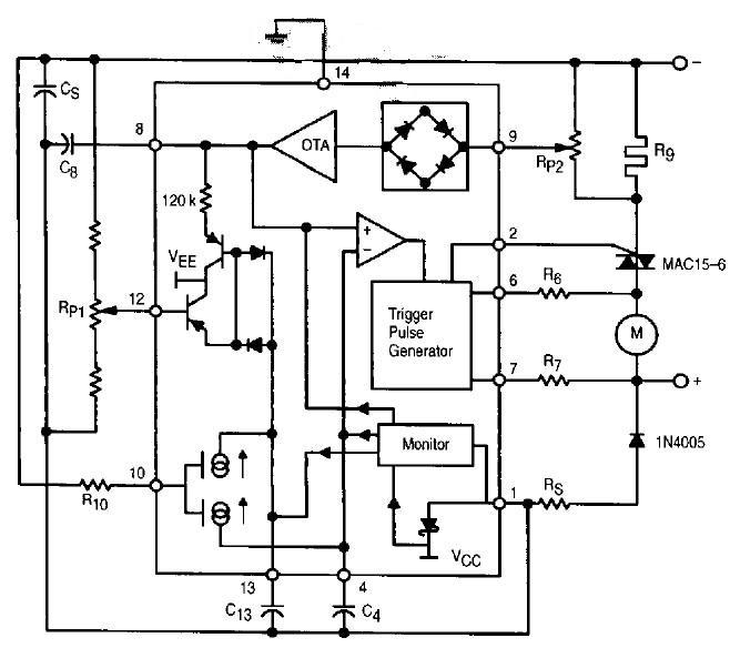 TDA1185A block diagram