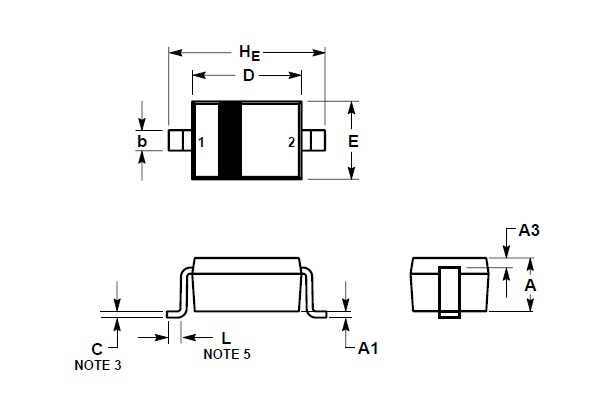SD12CT1G package dimensions