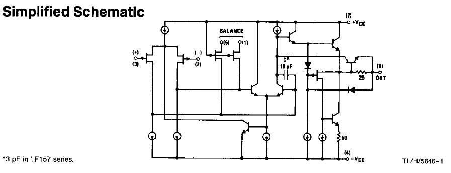 LF355H simplified schematic diagram