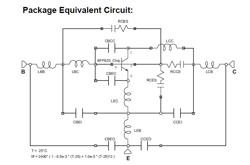 IRFPG50 Package Equivalent Circuit