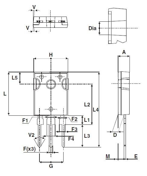 STPS30170CG Package diagram