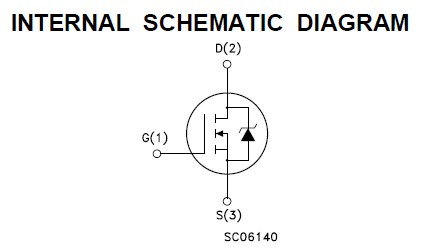 STW20NB50 internal schematic diagram