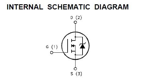 STW60N10 internal schematic diagram