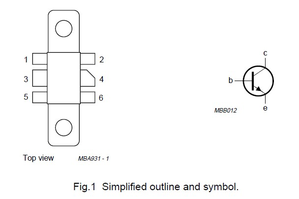 BLV194 Simplified outline and symbol