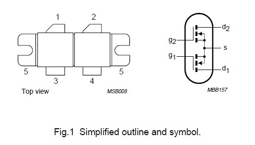 BLF368 Simplified outline and symbol