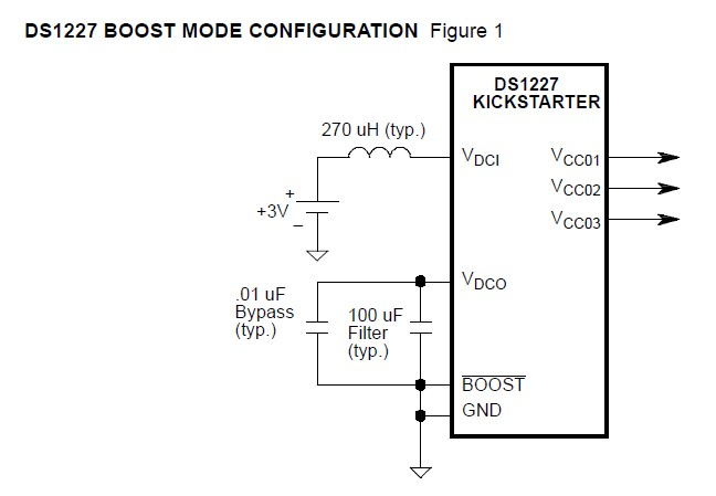 DS1227S boost mode configuration