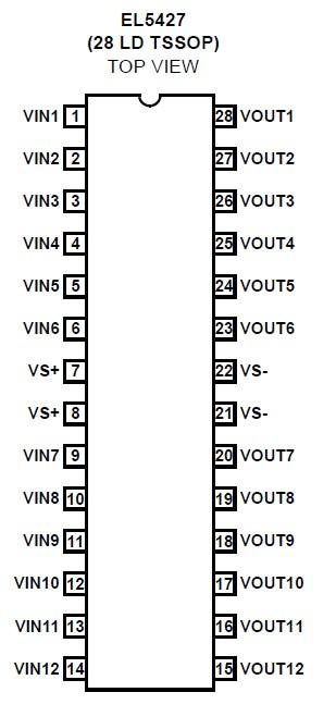 EL5427CLE block diagram