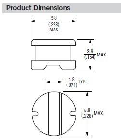 SDR0603-3R3ML Dimensions