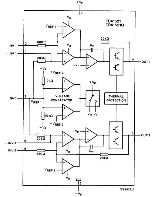 TDA1521 block diagram