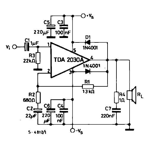 TDA2030AV test circuit