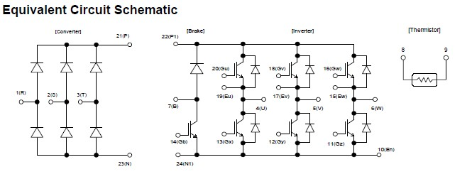 7MBR75UB120 schematic diagram