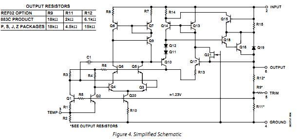 REF02CPZ simplified schematic