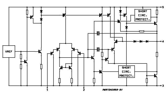 TDA2050 block diagram