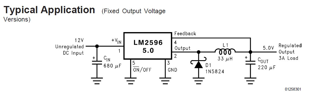 LM2596SX-5.0 Typical Application