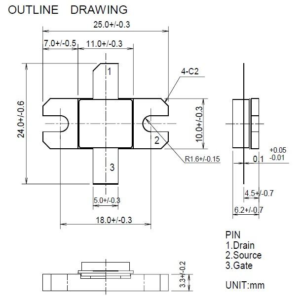 RD70HVF1 outline drawing