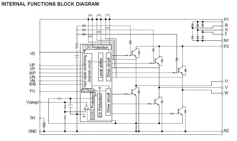 2Kw Inverter Circuit Diagram http://www.weiku.com/products/13364371/PS21564_CP.html