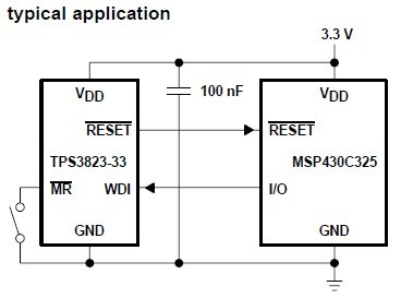 TPS3823-33DBVR typical application