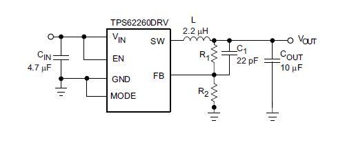 TPS61070DDCR diagram