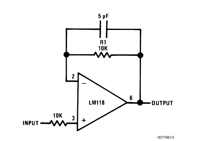 LM318H Fast Voltage Follower