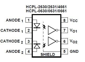 HCPL-0630-500E functional diagram