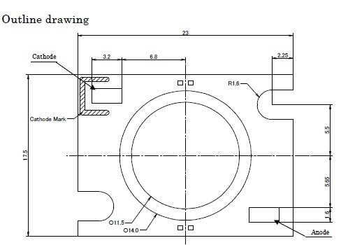 CL-L230-C10L Outline drawing