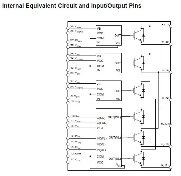 FSBB30CH60F Internal Equivalent Circuit