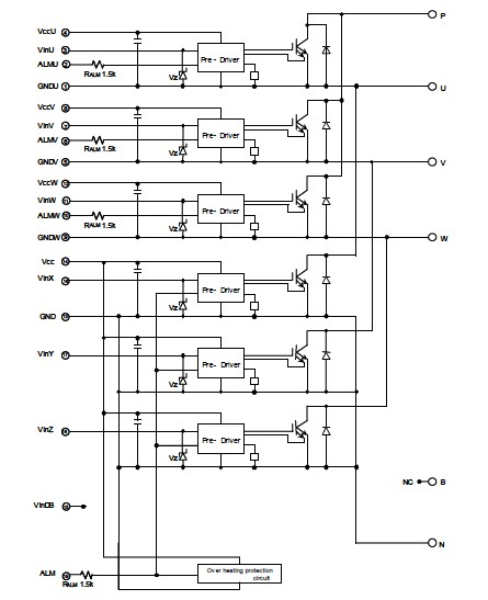 6MBP50RS120 block diagram