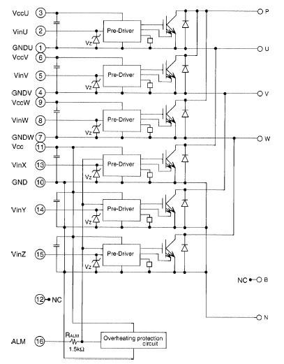 6MBP75RA060 block diagram